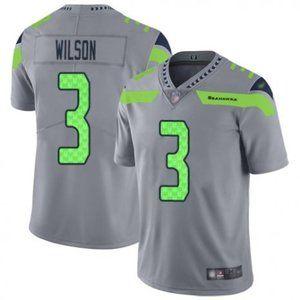 Seahawks Russell Wilson Silver Jersey